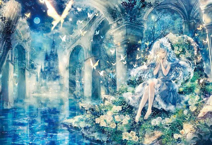 (夜光) Onineko - 少女的祈禱 300塊 (26×38cm)