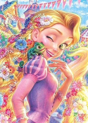 魔髮奇緣 - 長髮公主與帕斯卡 500塊 (35×49cm)