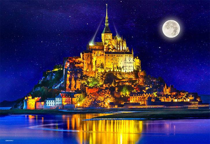 (迷你尺寸) 法國風景 - 星光聖米歇爾山 1000塊 (26×38cm)
