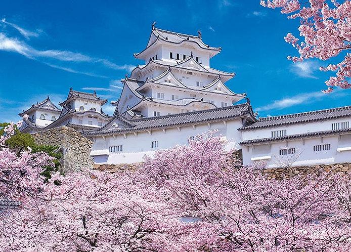 日本風景 - 姬路城盛開櫻花 500塊 (38×53cm)