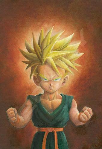 龍珠 - 幼年杜拉格斯肖像畫 300塊 (26×38cm)