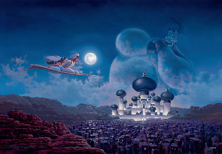 (夜光) 阿拉丁 - 飛越城堡 1000塊 (51×73.5cm)