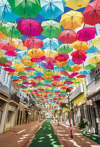 葡萄牙風景 - 阿格達雨傘藝術節 300塊 (26×38cm)