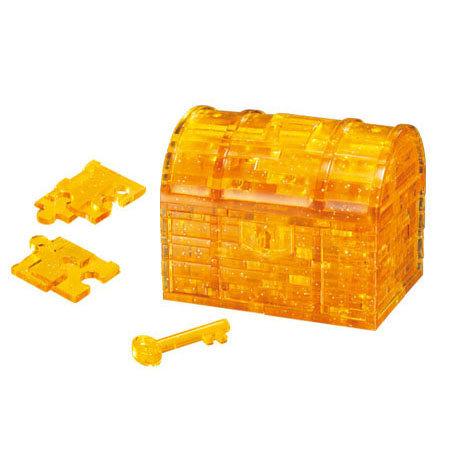水晶立體 - 黃金寶箱 51塊