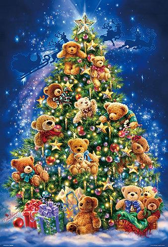 (夜光) Dona Gelsinger - 泰迪熊聖誕樹 1000塊 (49×72cm)