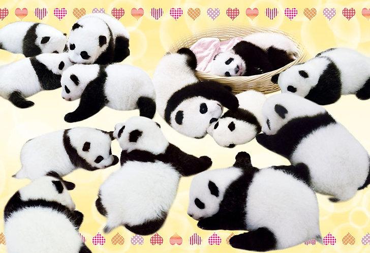 動物類 - 懶懶熊貓寶貝 300塊 (26×38cm)