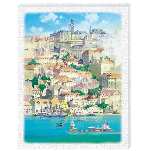 畫布框立體 - 魔女宅急便 漂浮在海中的小鎮 366塊