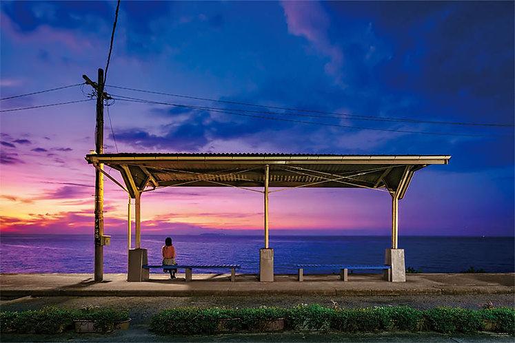 (夜光) 日本風景 - 駐足的車站下灘駅 1000塊 (50×75cm)