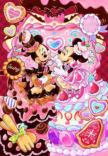 (環保樹脂) 迪士尼 - 米奇米妮結婚蛋糕 500塊 (25×36cm)