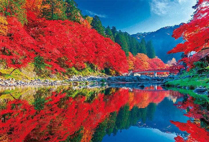 日本風景 - 秋晴之香嵐溪 1000塊 (49×72cm)