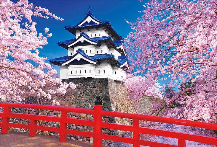 日本風景 - 櫻花弘前城 1000塊 (49×72cm)