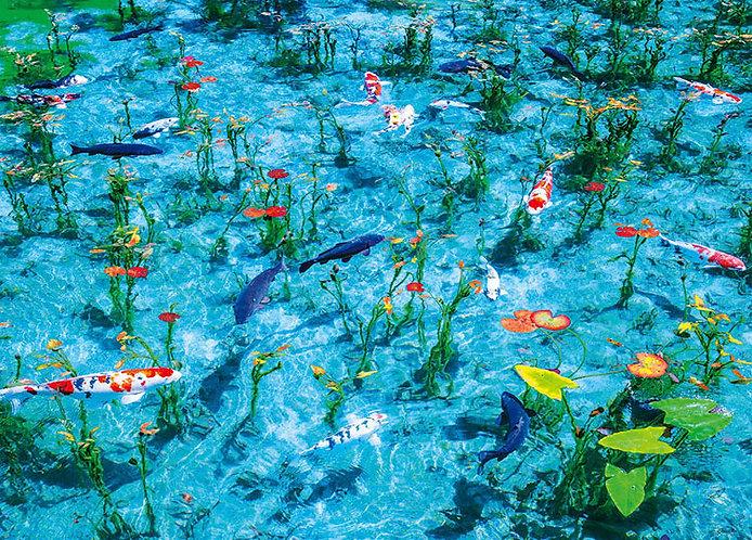 日本風景 - 莫奈的池塘 600塊 (38×53cm)