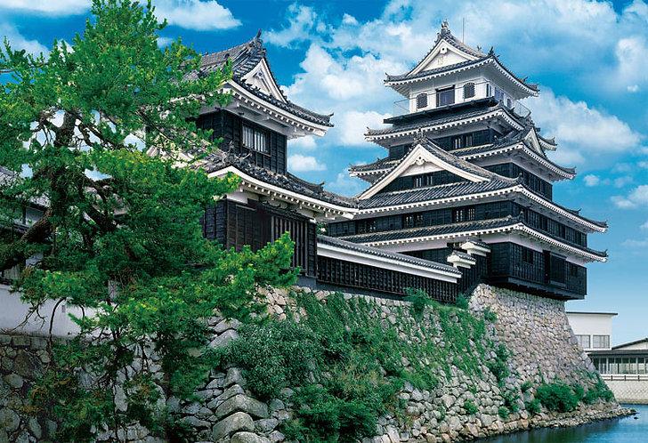 日本風景 - 中津城 300塊 (26×38cm)