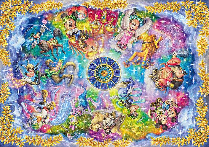 (迷你尺寸) 迪士尼 - 神秘的十二星座 1000塊 (29.7×42cm)