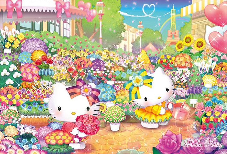Sanrio - Hello Kitty逛花市集 1000塊 (49×72cm)
