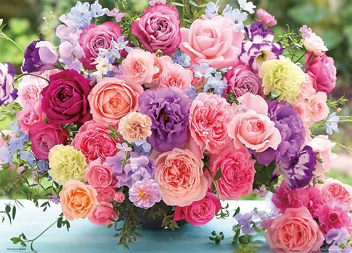 花藝 - 盛開的玫瑰 600塊 (38×53cm)