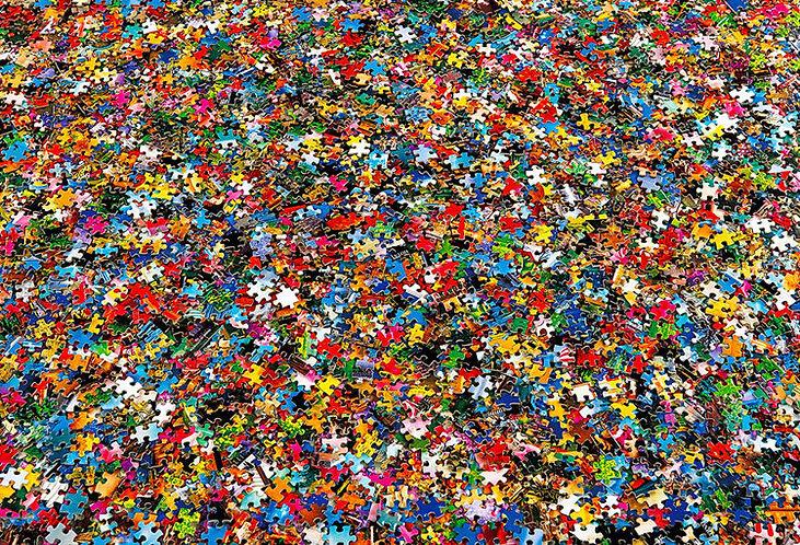 其他類 - 混亂砌圖堆 1000塊 (49×72cm)