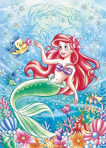 (布料質地) 小魚仙 - 海洋浪漫 (Ariel) 500塊 (38×53cm)