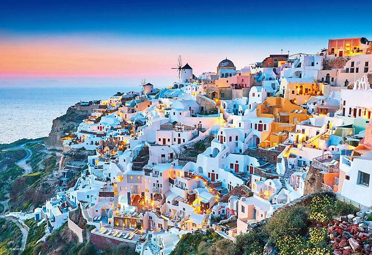 (迷你尺寸) 希臘風景 - 黃昏聖托里尼 1000塊 (26×38cm)