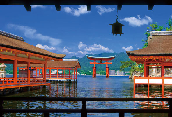日本風景 - 嚴島神社 1000塊 (49×72cm)