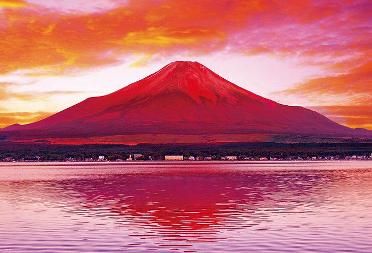 日本風景 - 雲峰赤富士 1000塊 (49×72cm)