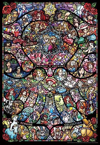 (透明樹脂) 迪士尼 - 全女角色彩繪藝術 500塊 (25×36cm)