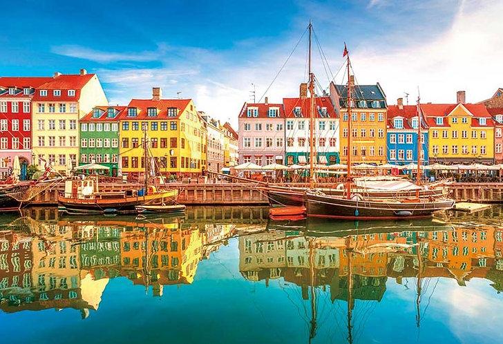 丹麥風景 - 哥本哈根小河 300塊 (26×38cm)
