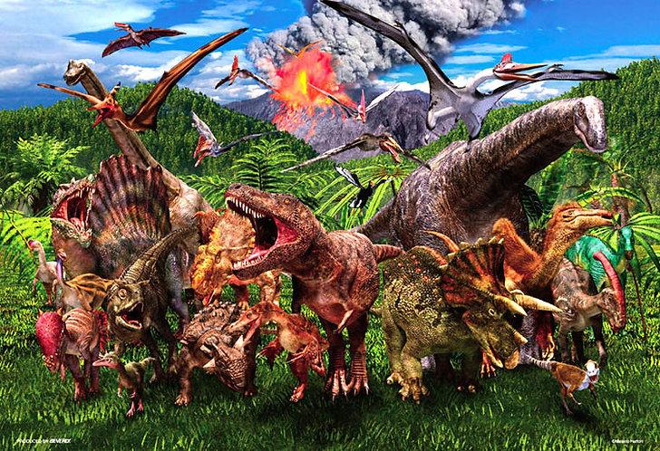 動物類 - 恐龍大災難 1000塊 (49×72cm)