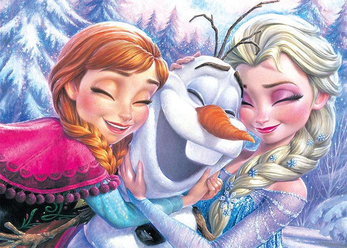 魔雪奇緣 - 安娜、愛莎與小雪人 500塊 (35×49cm)