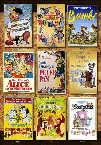 迪士尼 - 迪士尼動畫電影海報收藏 1000塊 (51×73.5cm)