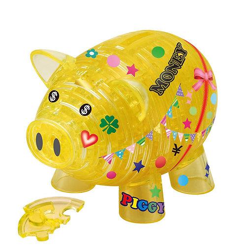 水晶立體 - 黃色豬仔儲金箱 93塊