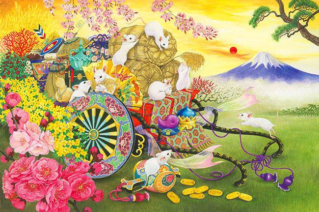 泉和美 - 大安幸運之鼠 1000塊 (50×75cm)