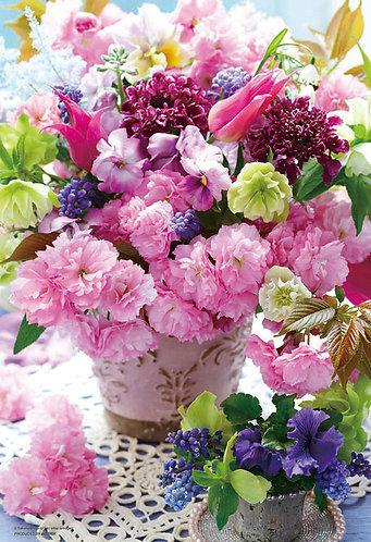 (迷你尺寸) 花藝 - 由花束傳達愛 1000塊 (26×38cm)
