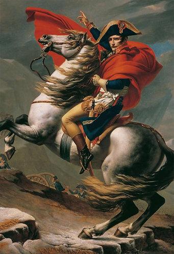 雅克-路易·大衛 - 跨越阿爾卑斯山聖伯納隘道的拿破崙 300塊 (26×38cm)