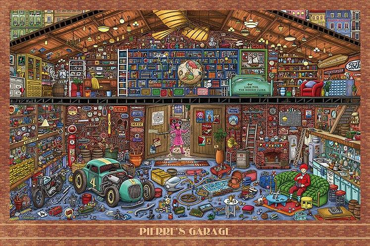 迷宮偵探 - 皮埃爾的車庫 1000塊 (50×75cm)