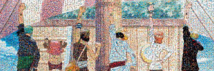 (馬賽克) 海賊王 - 同伴標誌 950塊 (34×102cm)