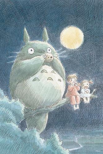 龍貓 - 在月光下演奏 1000塊 (50×75cm)