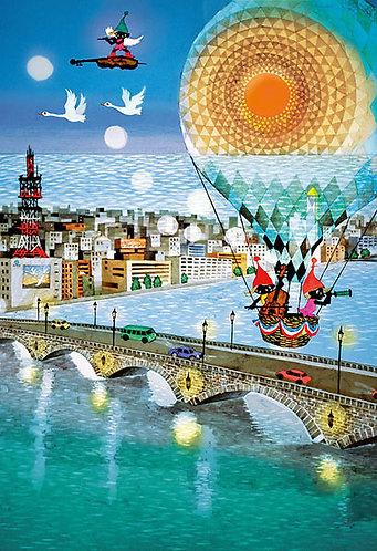 藤城清治 - 夢之橋 300塊 (26×38cm)