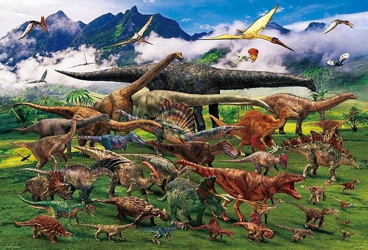 動物類 - 恐龍俯瞰圖 1000塊 (49×72cm)