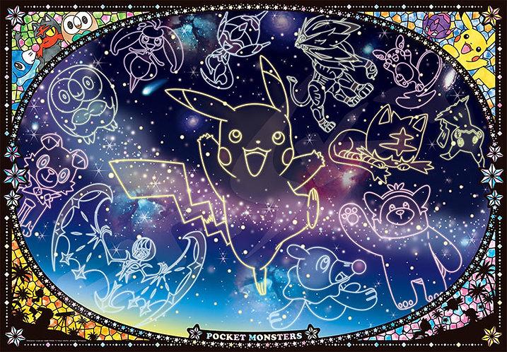 (夜光) 寵物小精靈 - 比卡超天星圖 1000塊 (51×73.5cm)