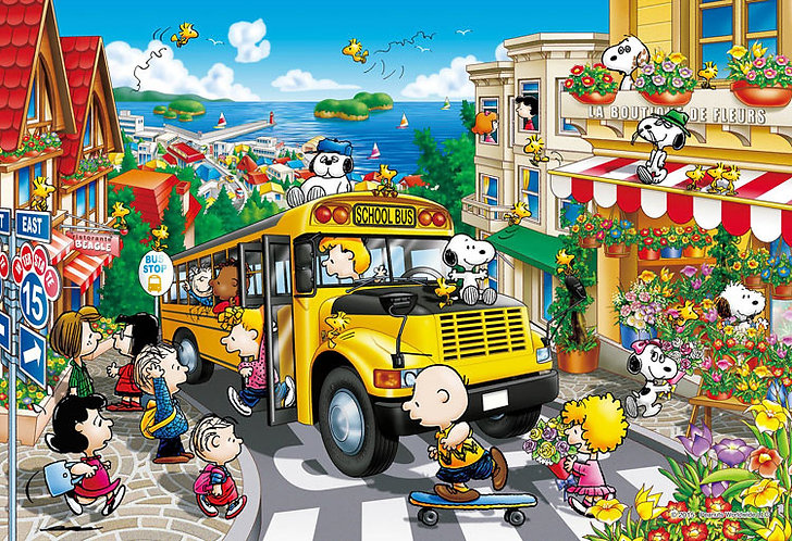 史努比 - 學校黃巴士 300塊 (26×38cm)