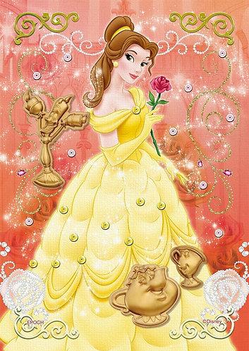 (布料質地) 美女與野獸 - 優雅玫瑰 108塊 (18.2×25.7cm)