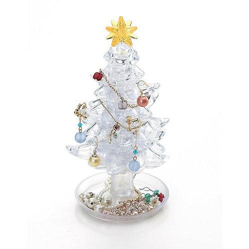 水晶立體 -白色聖誕樹 69塊