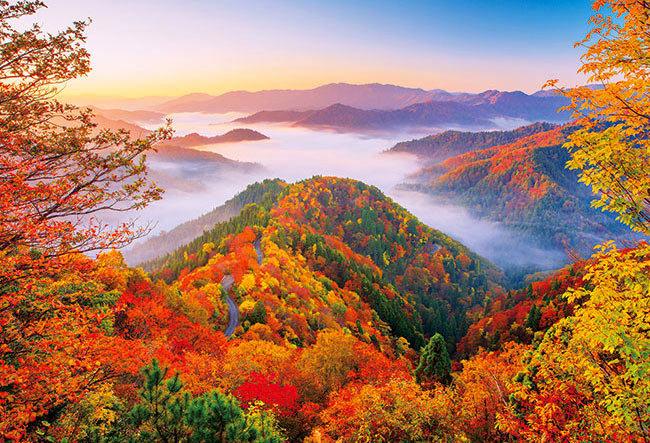 日本風景 - 天空中的道路 300塊 (26×38cm)