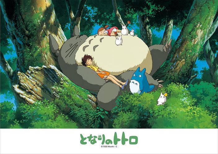 龍貓 - 在龍貓肚子上熟睡 108塊 (18.2×25.7cm)