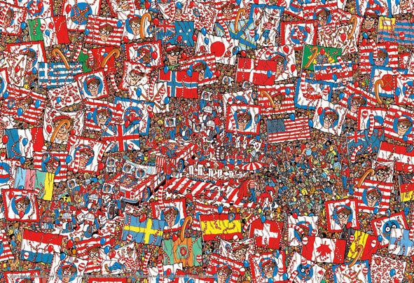 威利在哪裏? - 國旗派對 150塊 (26×38cm)