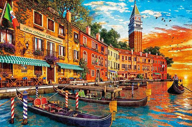 Dominic Davison - 聖馬可日落威尼斯 1000塊 (50×75cm)
