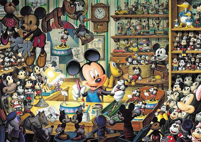 (夜光) 迪士尼 - 米奇玩具店 500塊 (35×49cm)