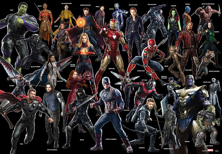 Marvel - 電影英雄 1000塊 (51×73.5cm)