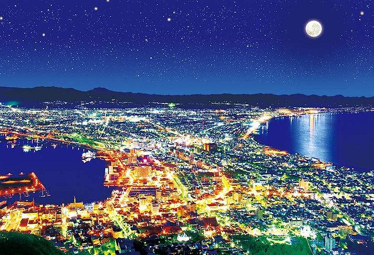 (夜光) 日本風景 - 北海道函館 300塊 (26×38cm)